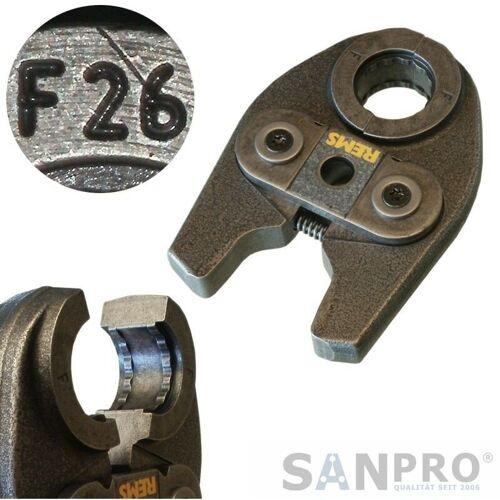 REMS Pressbacke - Presszange MINI mit Pressprofil F 26