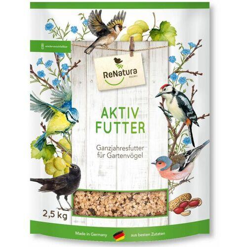 RENATURA VOGELWELT ReNatura® Ganzjahres Aktiv-Futter 2,5 kg Vogelfutter Gartenvögel