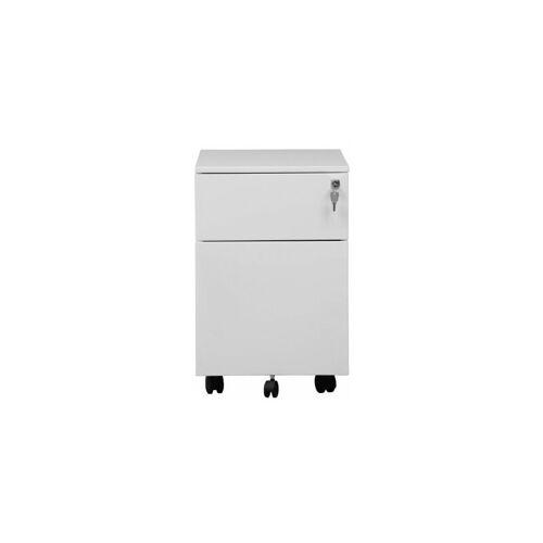 CERTEO Rollcontainer   HxBxT 535 x 400 x 600 mm   Weiß Container Rollcontainer
