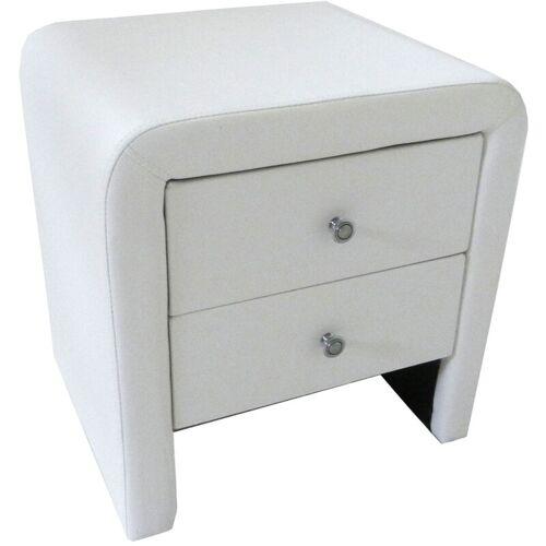 SAM Nachttisch 45 x 40 cm weiß Nachtkommode MAUI
