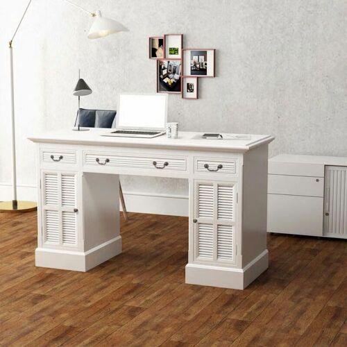 Zqyrlar - Schreibtisch Sekretär Weiß 140 x 48 x 80 cm