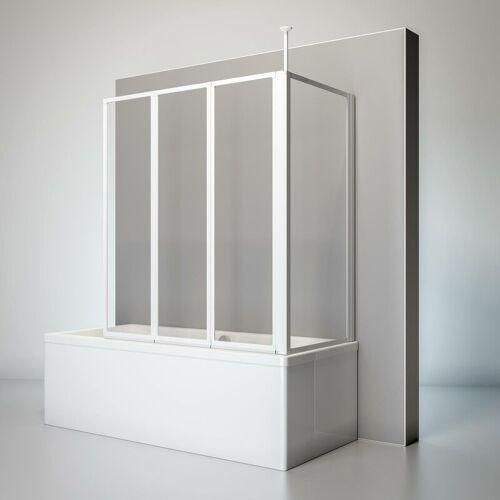 SCHULTE Duschwand Well mit Seitenwand, 129 x 140 x 70 cm, 3-teilig faltbar,
