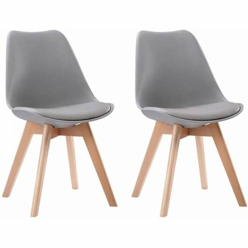 BENEFFITO SENJA - Set skandinavischer Stühle - GRAU - X2 - Grau