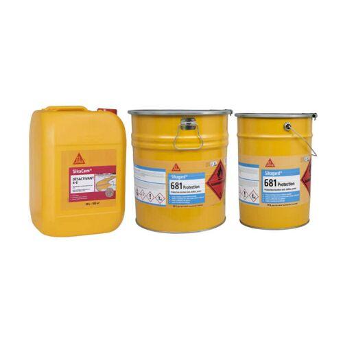 SIKA Kit deaktivierter Beton 100m² Deaktivator 20L - Farbloser Schutz für