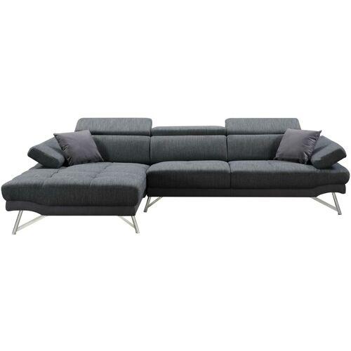 HHG Sofa 499, Couch Ecksofa L-Form 3-Sitzer, Liegefläche ~ links,