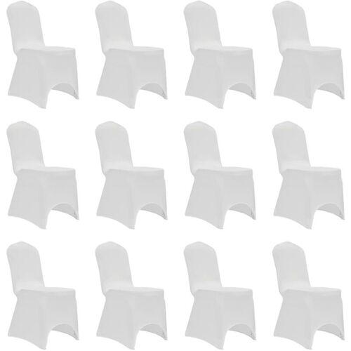 ZQYRLAR Stretch-Stuhlhussen 12 Stk. Weiß