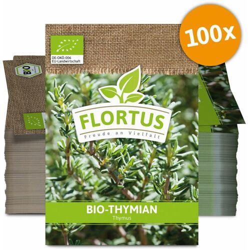 Flortus Werbesamentüten - Thymian (100 Tütchen)   BIO Thymiansamen von