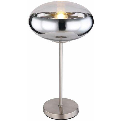 ETC-SHOP Tischleuchte Kugel Chrom Nachttischlampe rund Kugel silber Kugel Lampen