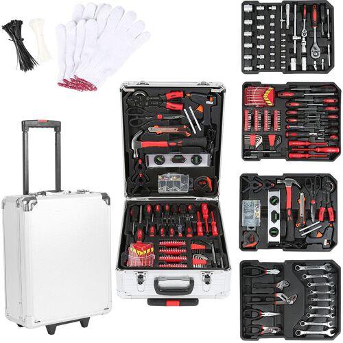Wyctin - Trolley Werkzeugkoffer 999-tlg. Werkzeugkiste fahrbar auf