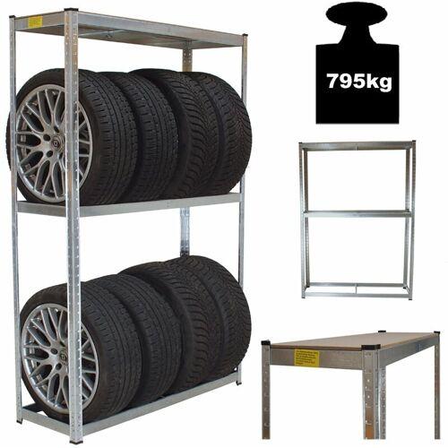 TrutzHolm® Reifenständer Reifenregal Steckregal 180 x 120 x 40 cm 795 kg