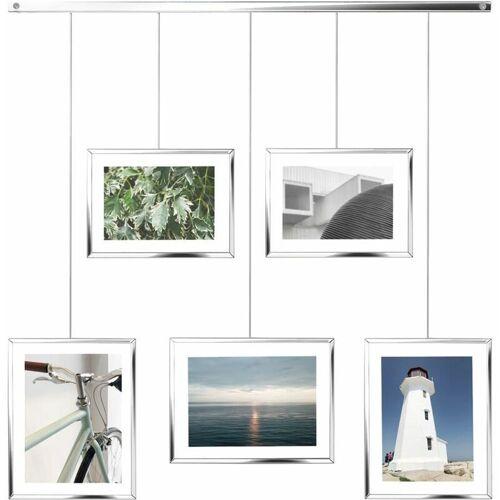 UMBRA Bilderrahmen Exhibit, Foto Collage, Bilderrahmen Set, 5 Photos, Glas,