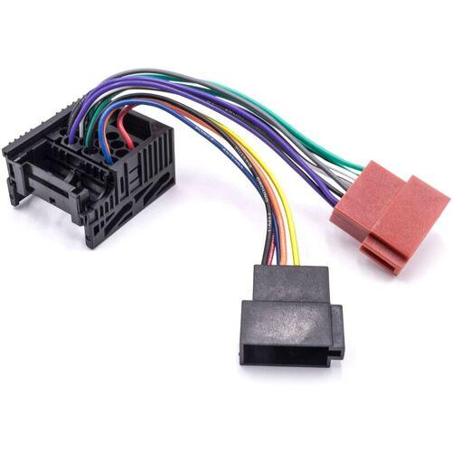 VHBW Autoradio ISO Adapter kompatibel mit BMW X5 E56 04/2000 - 09/2001