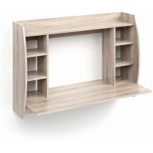 VICCO Wandschreibtisch MAX Sonoma Eiche Wandtisch Schreibtisch Wandregal