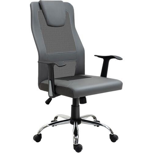 Vinsetto ® Bürostuhl Chefsessel Rückenlehne in S-Form Grau - grau - Vinsetto