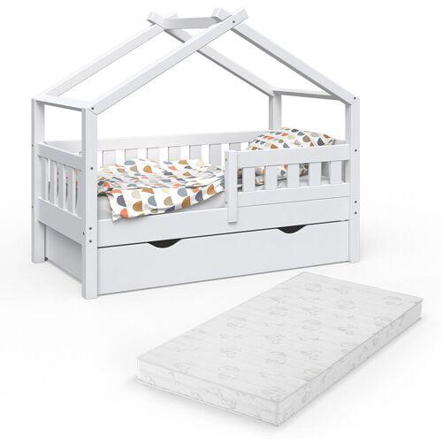 VitaliSpa Design Kinderbett 140x70 Babybett mit Schublade Lattenrost