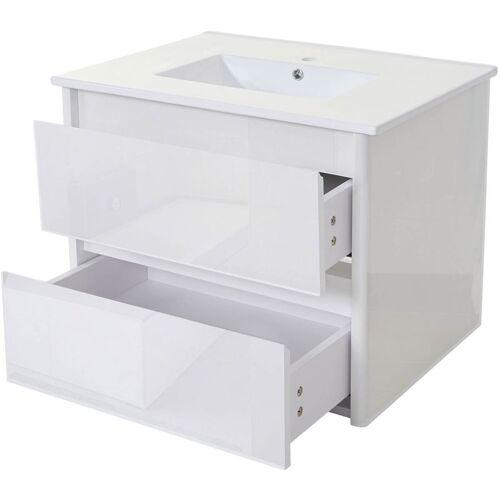 HHG Waschbecken + Unterschrank 627, Waschbecken Waschtisch Badezimmer,