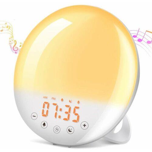 THSINDE Wecklicht LED Radio Wecker Morgen Helle Nachttischlampe 20