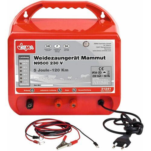 DEMA Weidezaungerät Mammut N9500 Elektrozaungerät 230V Weidezaun Elektrozaun