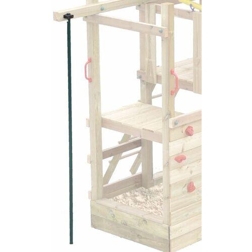 Fatmoose WICKEY Spielturm Zubehör Feuerwehrstange gerade für Spielhaus,
