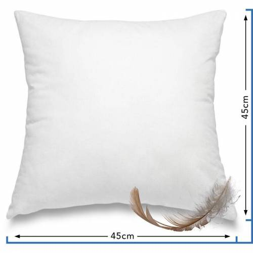 WOMETO Federkissen Kissen 100% Federn 45x45 cm - 500g OekoTex
