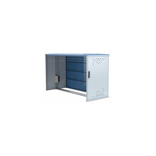 WSM Fahrradbox - Anbauelement mit Giebeldach, mit Seitenwand Fahrradboxen