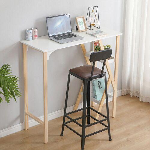 WYCTIN Schreibtisch Computertisch Bartisch Beistelltisch Stehtisch mit 2