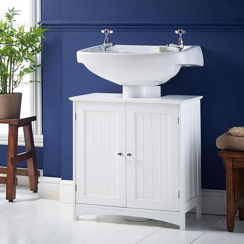WYCTIN Waschbeckenunterschrank mit 2 Türen Unterschrank Badezimmerschrank viel