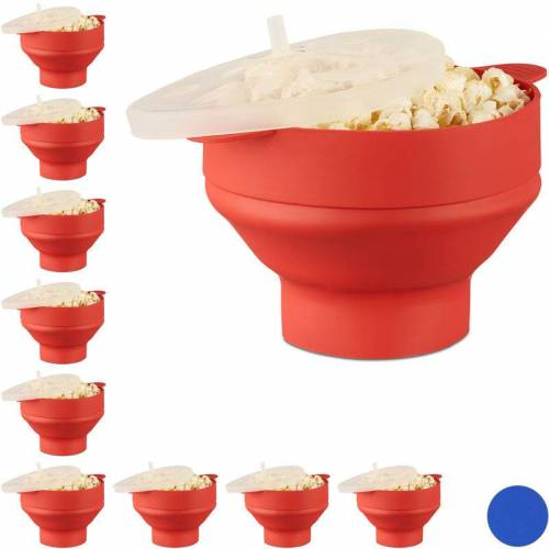 Relaxdays - 10 x Popcorn Maker Silikon für Mikrowelle,