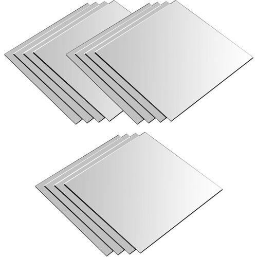 WOHAGA® 12 Stück Spiegelfliesen je 30x30cm Spiegelkachel Fliesenspiegel Spiegel