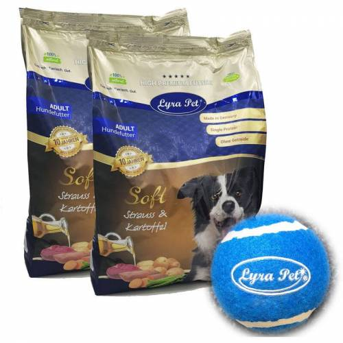 LYRA PET 8 kg + 400 g gratis ® High Premium Dog Soft Strauß & Kartoffel