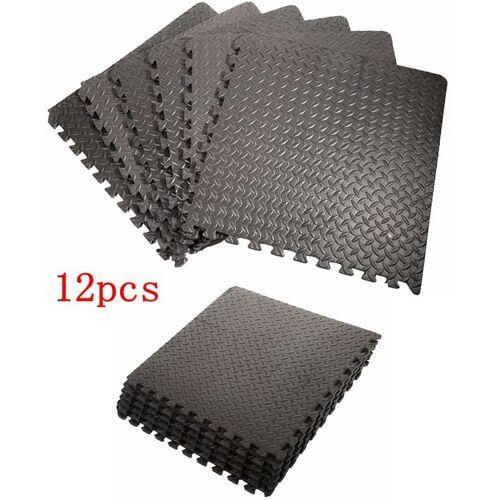 WYCTIN 12x EVA Schutzmatten Schutzmattenset Bodenschutzmatten