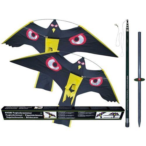 RYOM 2 x Vogelscheuche Vogelschreck Raubvogel-Drache Habicht mit 1 x