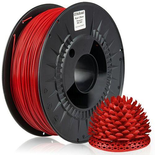 MIDORI 20 x MIDORI® 3D Drucker 1,75mm PLA Filament 1kg Spule Rolle Premium