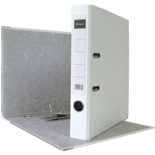 MIDORI 200 x Akten-Ordner PP A4 50 mm Weiss Kunststoff Archiv Büroordner