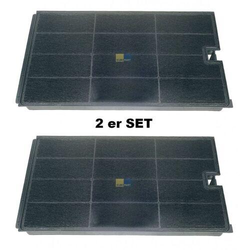 WPRO 2x Aktiv - Kohlefilter 270x160mm für / Bauknecht Dunstabzugshaube