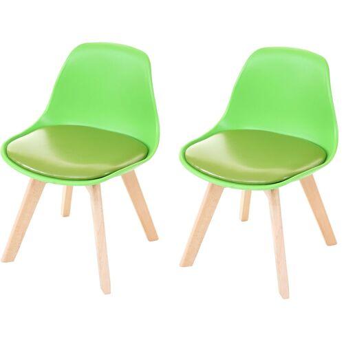 HHG 2x Kinderstuhl 748, Kinderhocker Stuhl Kindermöbel Kinderzimmer,