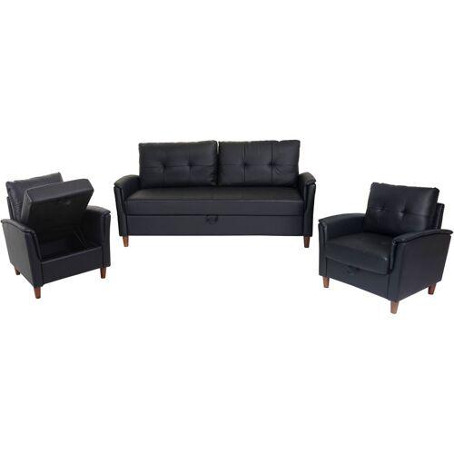HHG 3-1-1 Couchgarnitur HHG-697, 3er Sofa Sofagarnitur Loungesessel