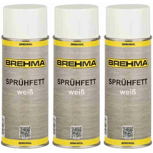 BREHMA 3x BREHMA Weisses Sprühfett mit PTFE -50°C bis +170°C Fettspray