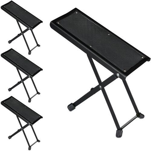 RELAXDAYS 4 x Fußbank Gitarre, ergonomische Haltung, rutschfest, faltbar, 4
