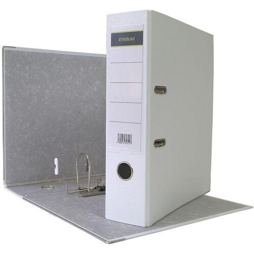 MIDORI 480 x Ordner A4 8 cm PP Kunststoff Weiss Aktenordner Briefordner Breit