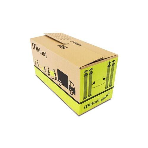 MIDORI 60x UMZUGSKARTONS PROFI 2-WELLIG 630 x 285 x 305 mm stabile Umzugskarton