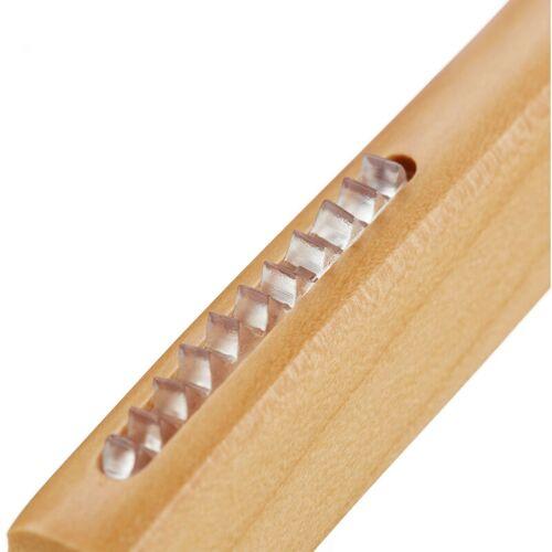 Relaxdays - 75 x Kleiderbügel Holz, beflockte & eingekerbte Bügel mit
