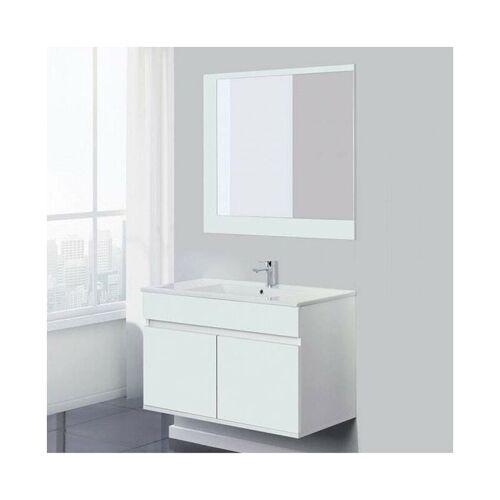 FERIDRAS Abgehängter Badezimmerschrank 90 cm in Weiß Fabula 801024   weiß