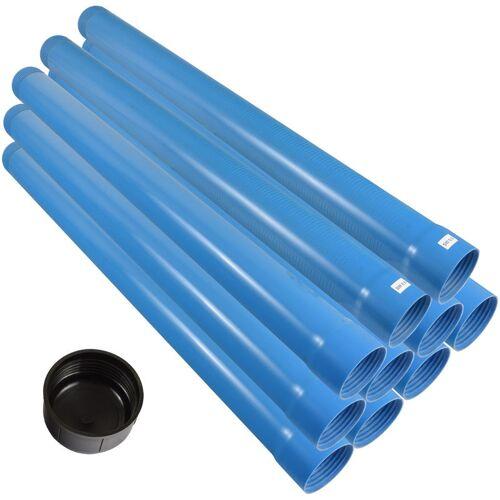 Agora-Tec® 3 Zoll Brunnenrohr-Set (10 Meter) inkl. 2 m Filterrohr (SW