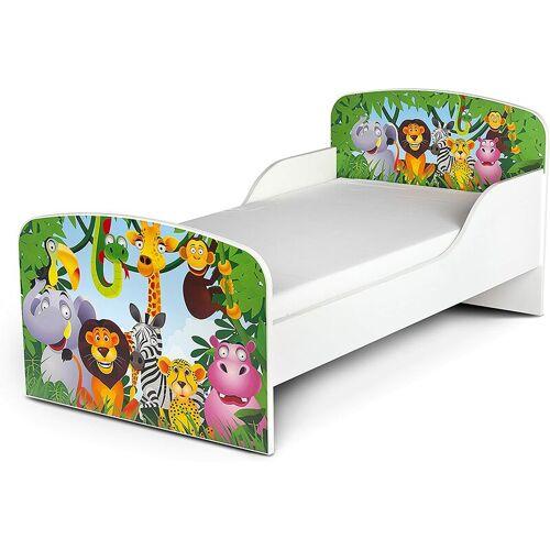 LEOMARK Animals - Kinderbett mit Matratze und Lattenrost (140/70 cm) - LEOMARK