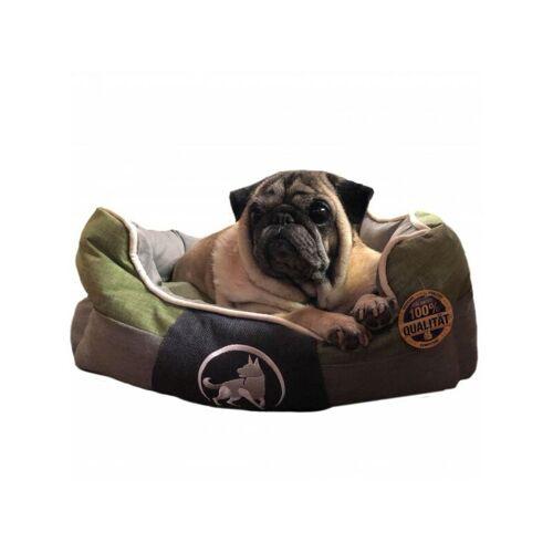 AQUAGART ® Hundebett grün L 75 x 60cm Hundekissen Hundebetten Hundesofa