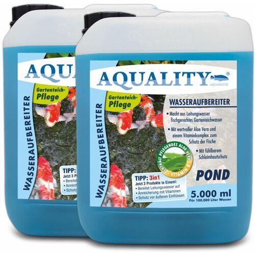 AQUALITY Gartenteich 3in1 Wasseraufbereiter (Macht aus Leitungswasser