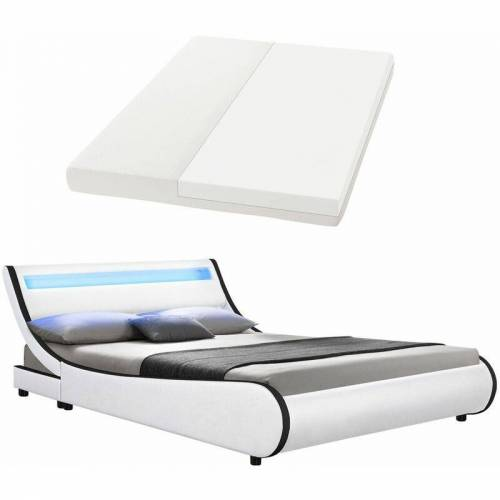 ArtLife Polsterbett Bett Valencia 180 x 200 cm weiß mit