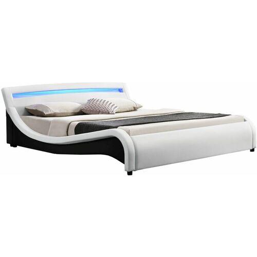 Artlife - Polsterbett Malaga 140 x 200 cm – Bett mit Lattenrost & LED