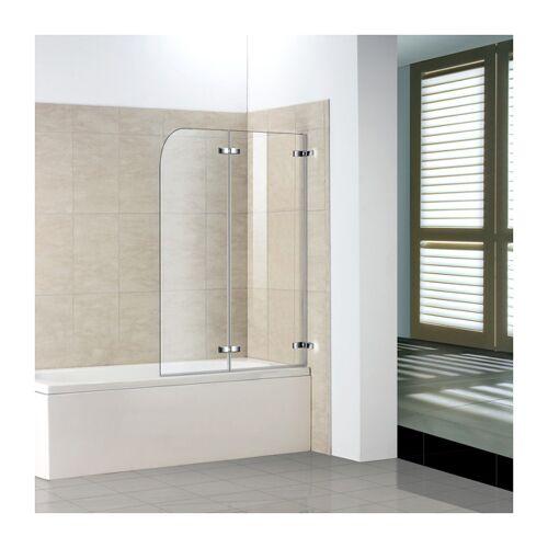 Aica 110cm Badewanne 2-tlg. Faltwand Duschwand duschabtrennung